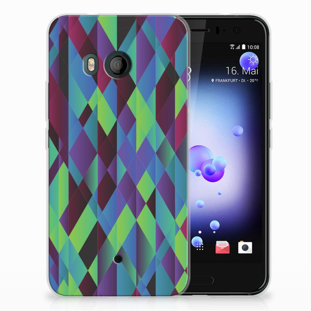 HTC U11 TPU Hoesje Design Abstract Green Blue