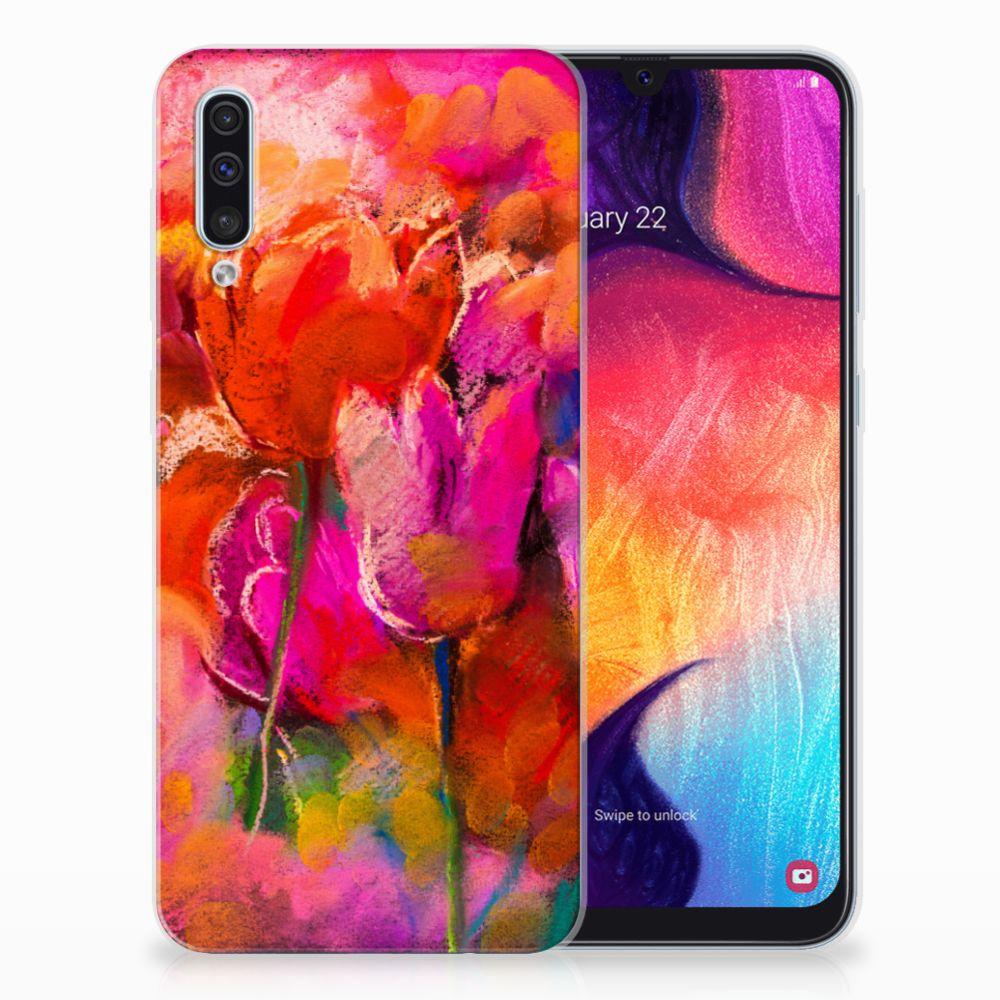 Hoesje maken Samsung Galaxy A50 Tulips