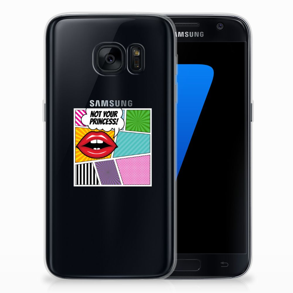 Samsung Galaxy S7 Silicone Back Cover Popart Princess
