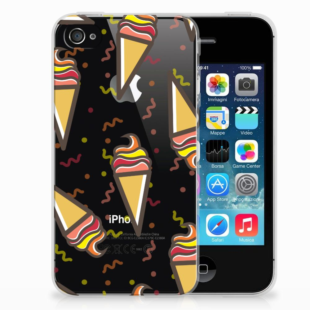 Apple iPhone 4 | 4s Siliconen Case Icecream