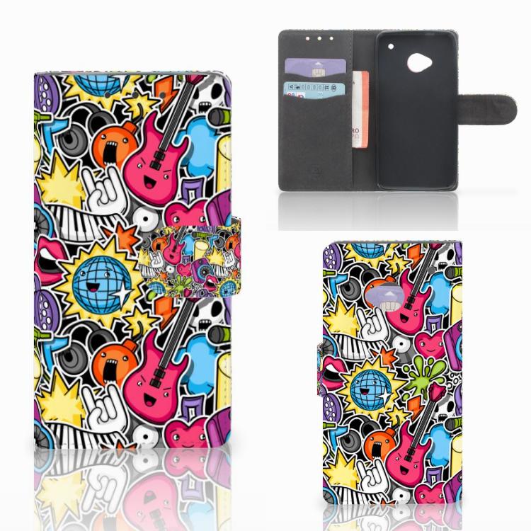 HTC One M7 Wallet Case met Pasjes Punk Rock