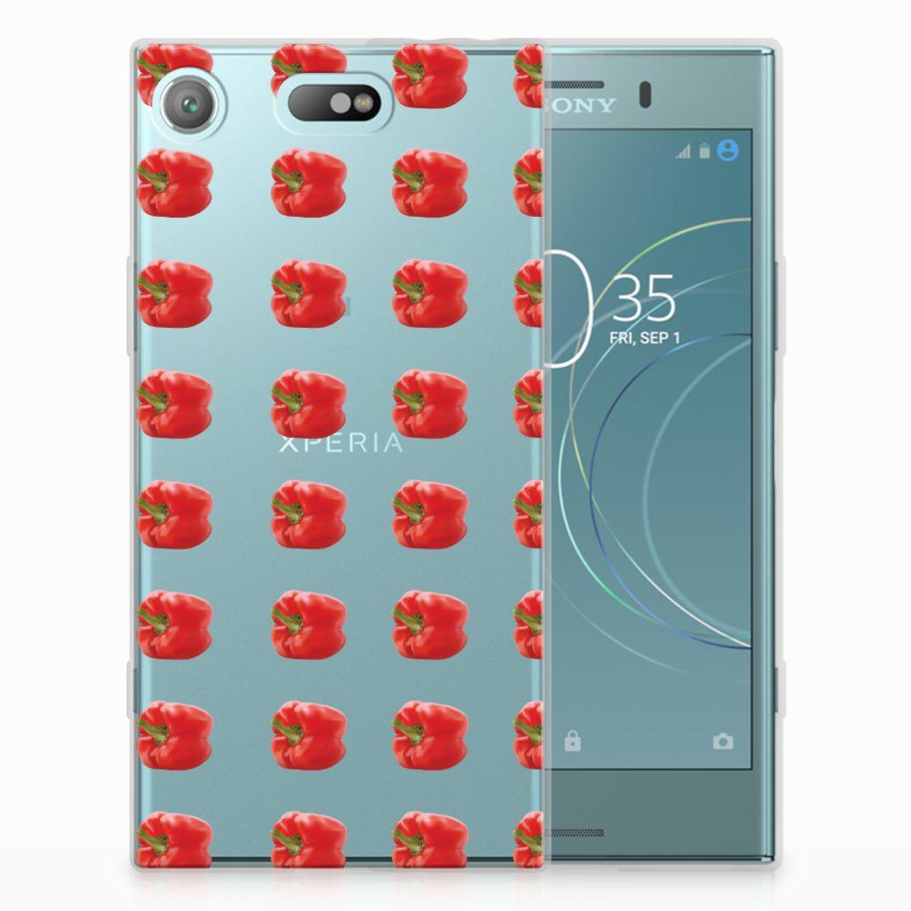 Sony Xperia XZ1 Compact TPU Hoesje Design Paprika Red