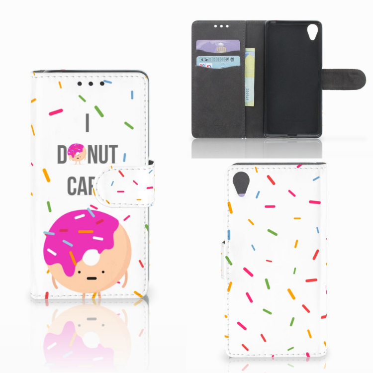 Sony Xperia X Book Cover Donut Roze