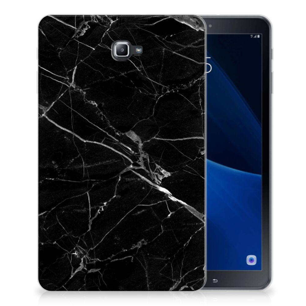 Samsung Galaxy Tab A 10.1 Tablet Back Cover Marmer Zwart