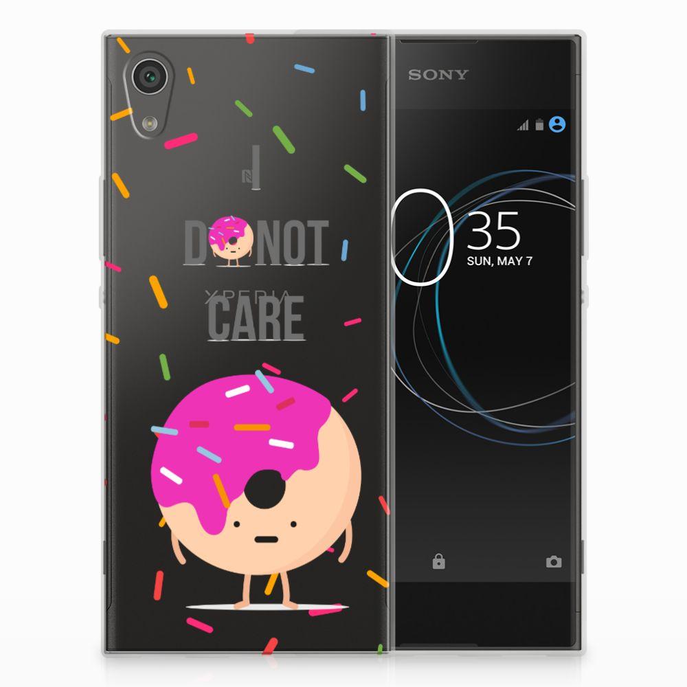 Sony Xperia XA1 Siliconen Case Donut Roze