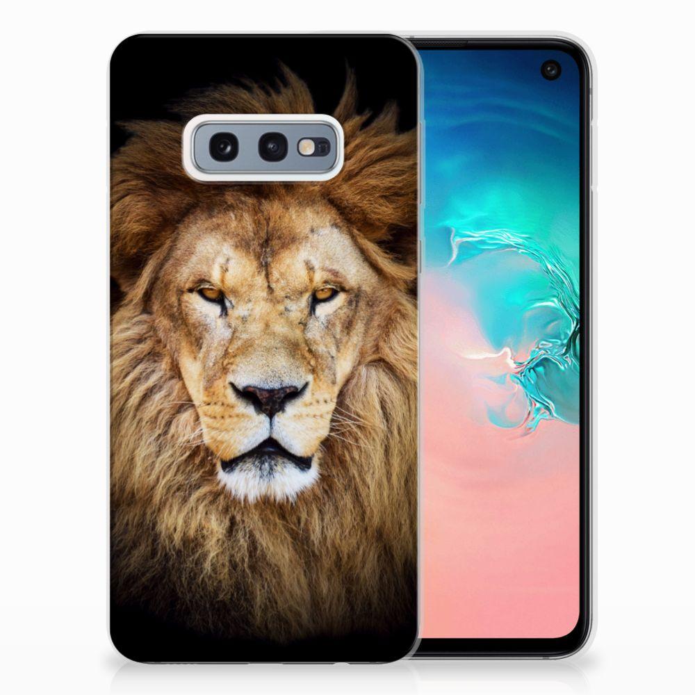 Samsung Galaxy S10e TPU Hoesje Design Leeuw