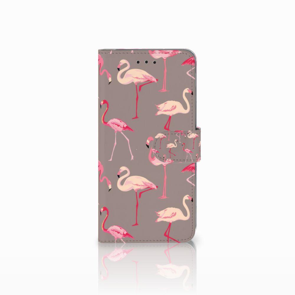 Samsung Galaxy A6 Plus 2018 Uniek Boekhoesje Flamingo