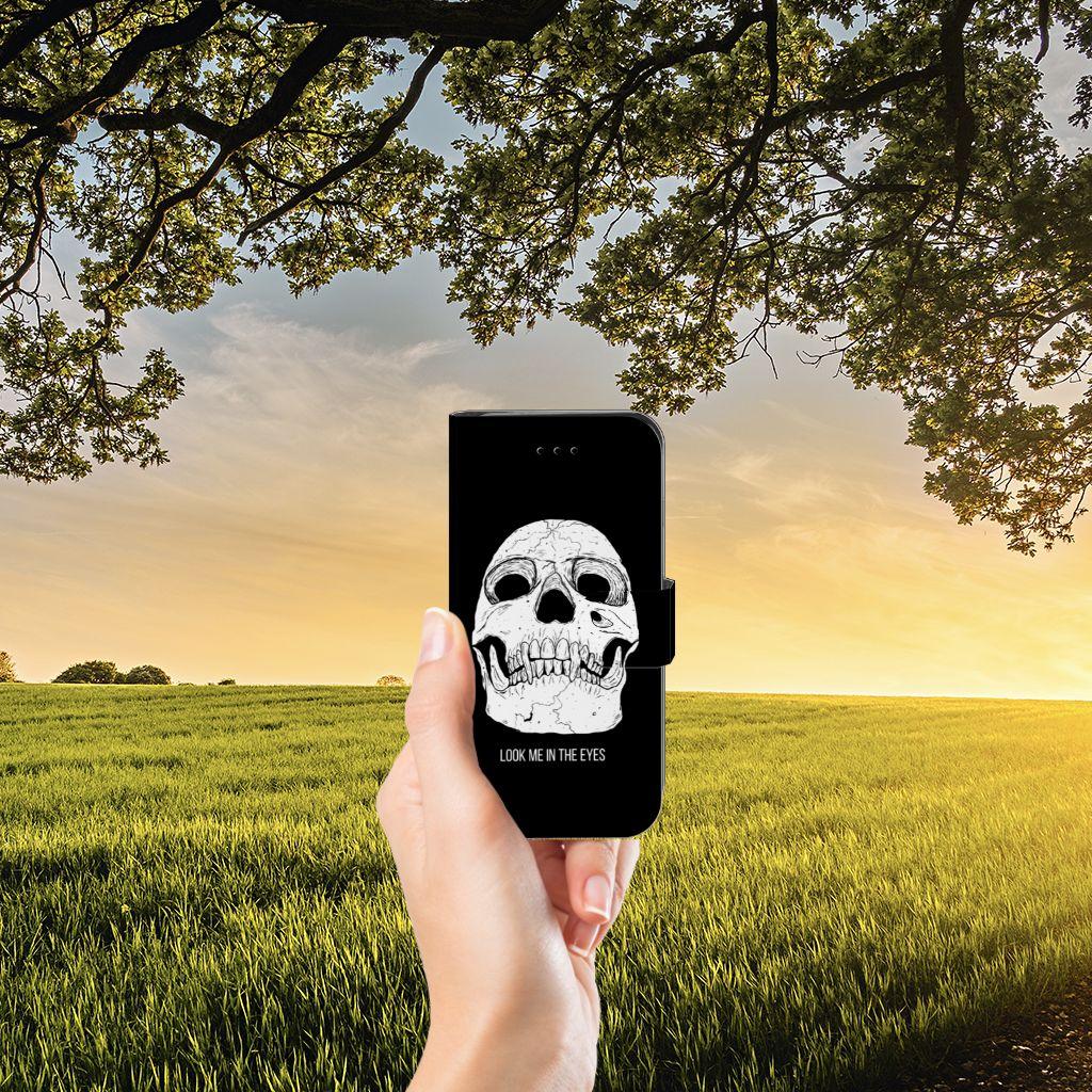 Telefoonhoesje met Naam iPhone 7 | 8 | SE (2020) Skull Eyes
