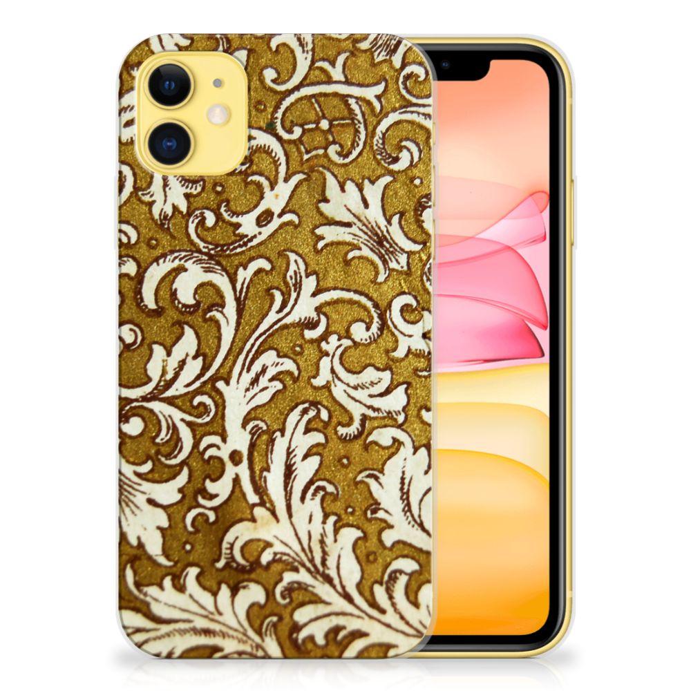 Siliconen Hoesje Apple iPhone 11 Barok Goud
