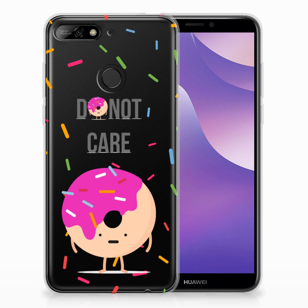 Huawei Y6 (2018) Siliconen Case Donut Roze