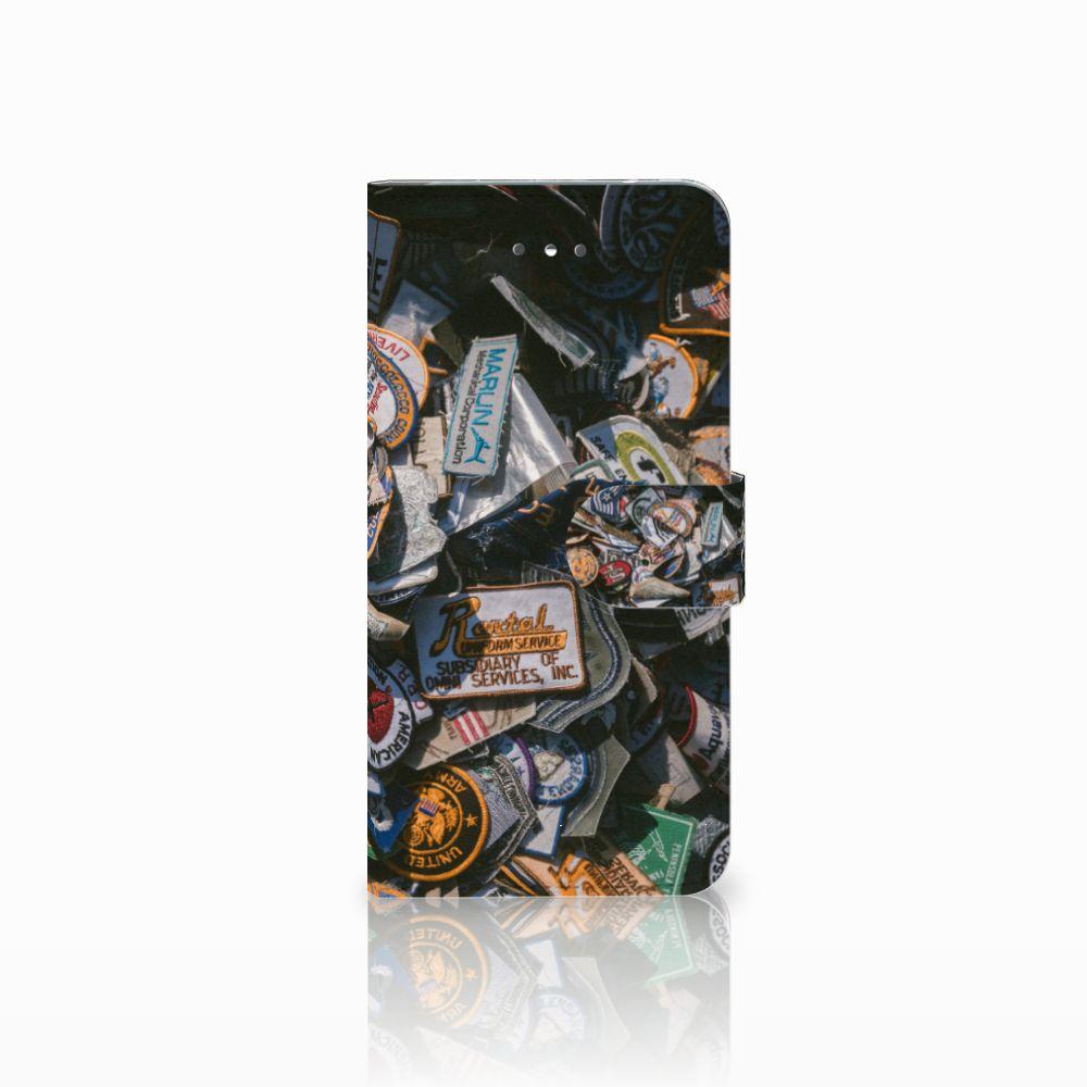 LG Nexus 5X Uniek Boekhoesje Badges