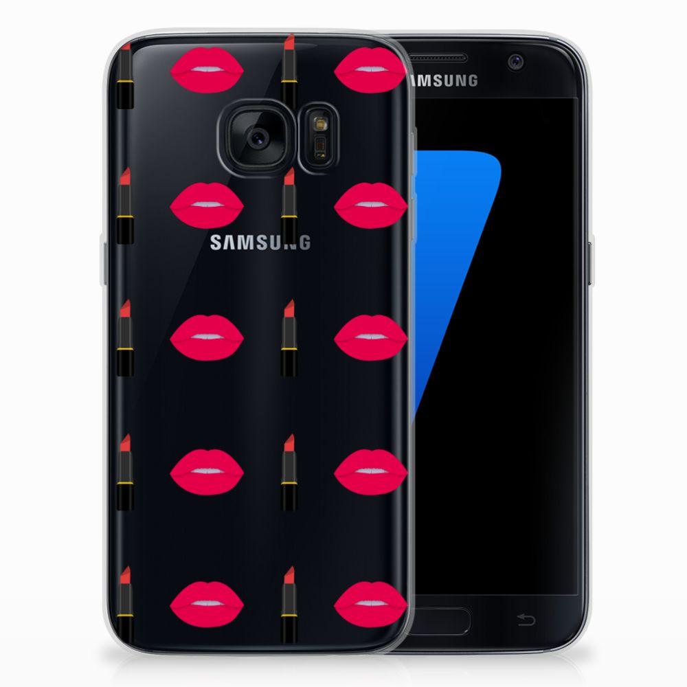 Samsung Galaxy S7 TPU bumper Lipstick Kiss
