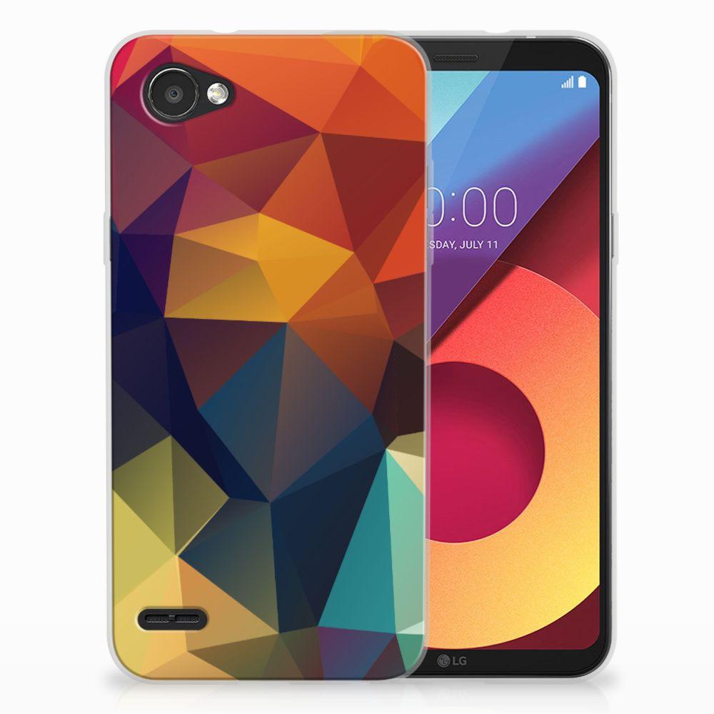 LG Q6   LG Q6 Plus TPU Hoesje Design Polygon Color