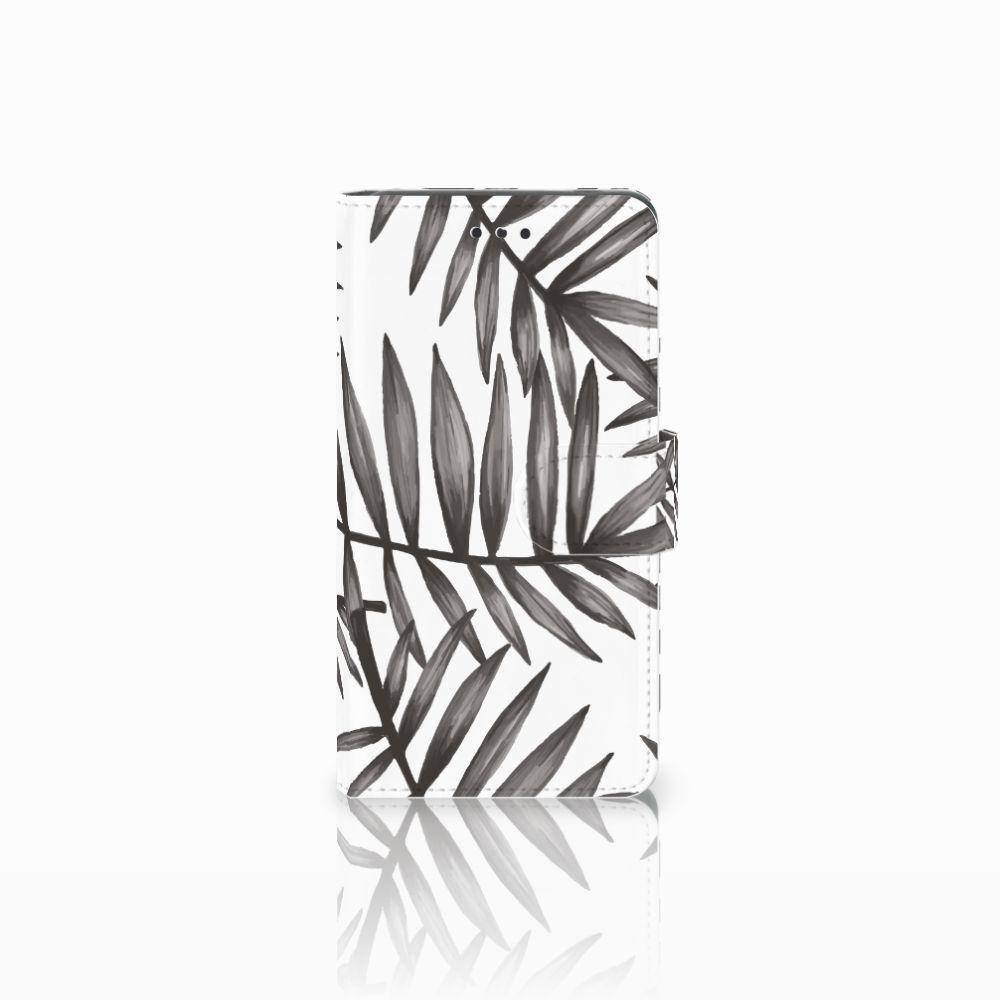 Nokia 7 Uniek Boekhoesje Leaves Grey