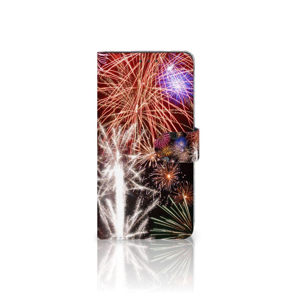 Samsung Galaxy A8 Plus (2018) Boekhoesje Design Vuurwerk