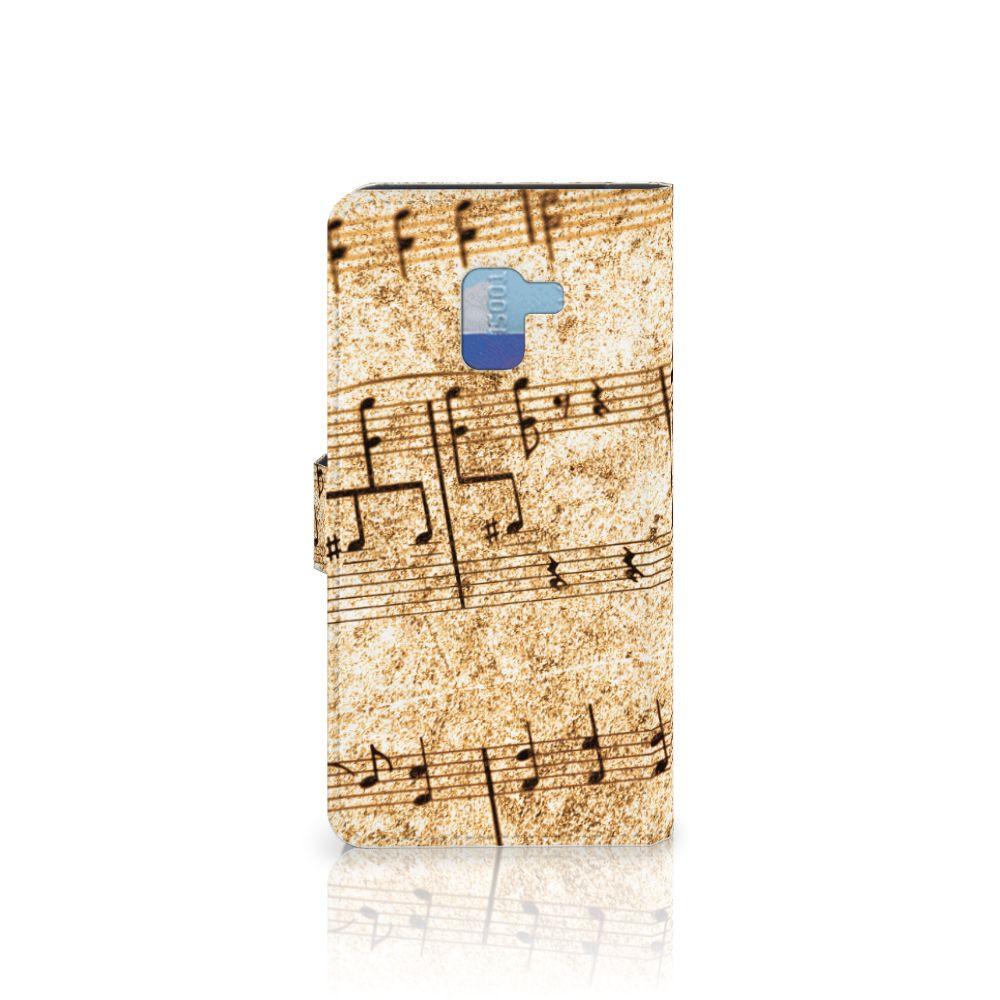 Samsung Galaxy A8 Plus (2018) Telefoonhoesje met foto Bladmuziek