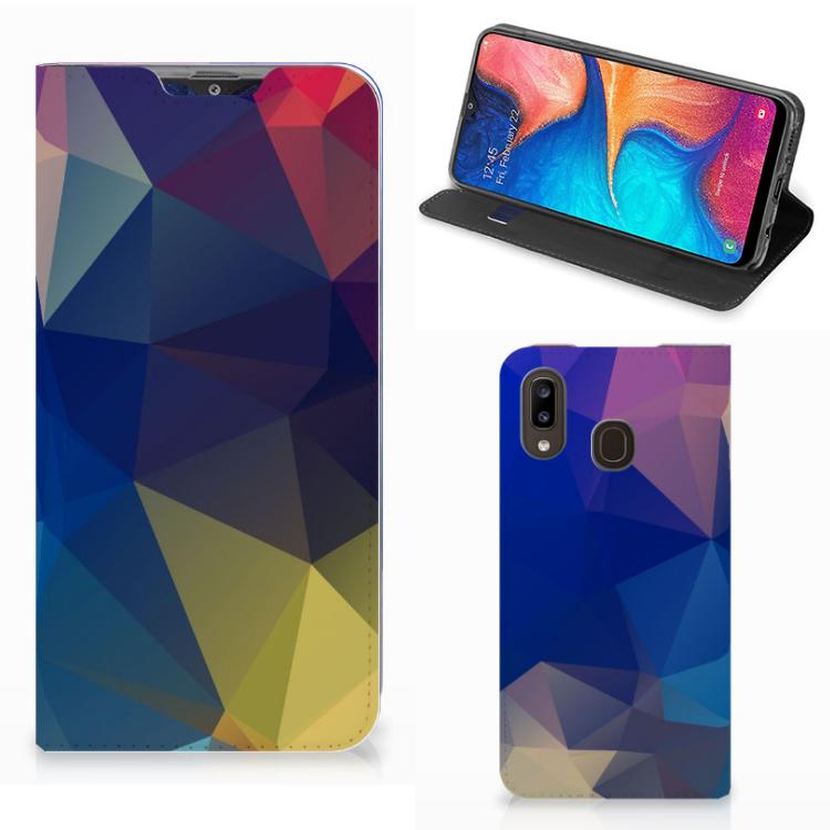 Samsung Galaxy A30 Stand Case Polygon Dark