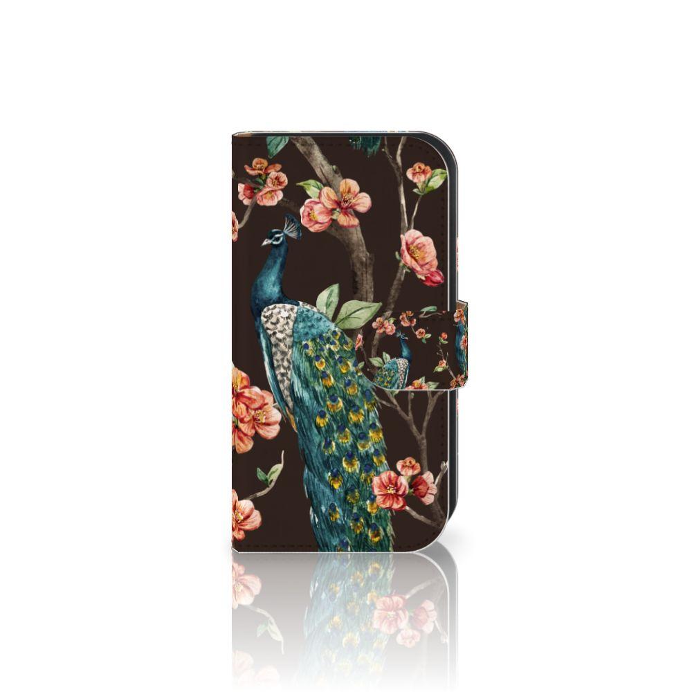 Samsung Galaxy Ace 4 4G (G357-FZ) Boekhoesje Design Pauw met Bloemen