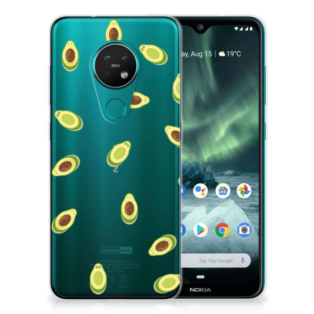 Nokia 7.2 | 6.2 Siliconen Case Avocado