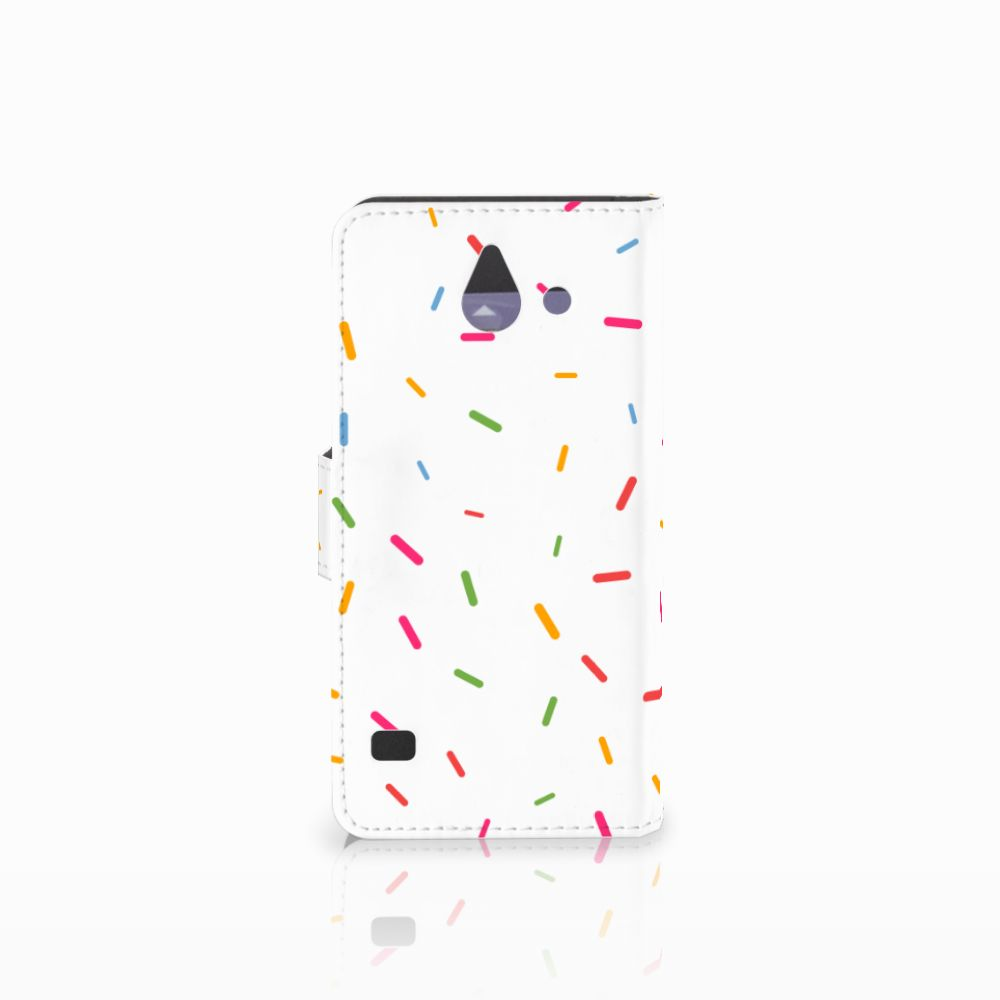 Huawei Ascend Y550 Book Cover Donut Roze