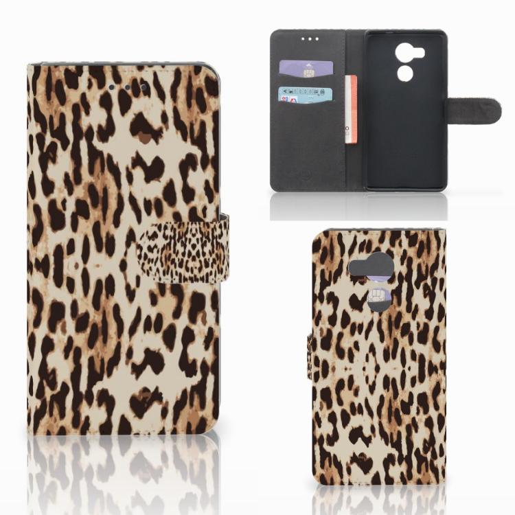 Huawei Mate 8 Telefoonhoesje met Pasjes Leopard