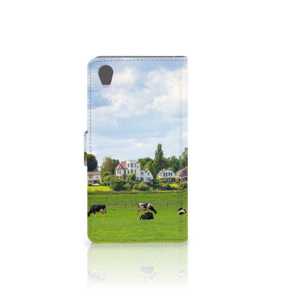 Sony Xperia Z1 Telefoonhoesje met Pasjes Koeien