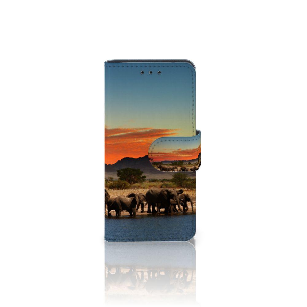 Samsung Galaxy S5 Mini Telefoonhoesje met Pasjes Olifanten