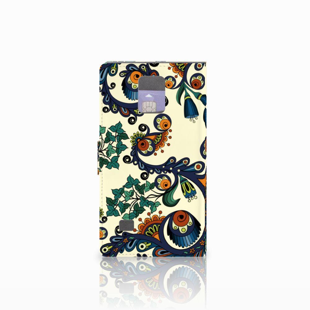 Wallet Case Samsung Galaxy Note 4 Barok Flower