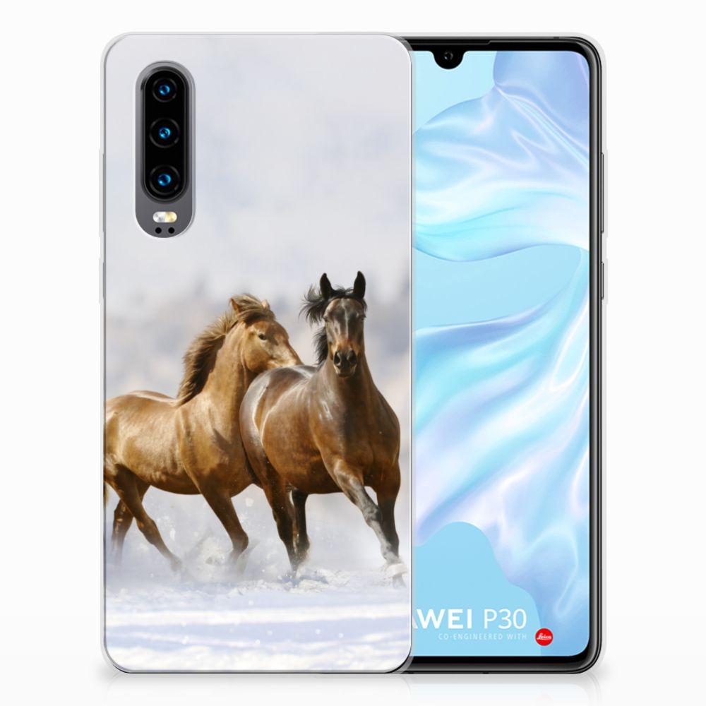 Huawei P30 Leuk Hoesje Paarden