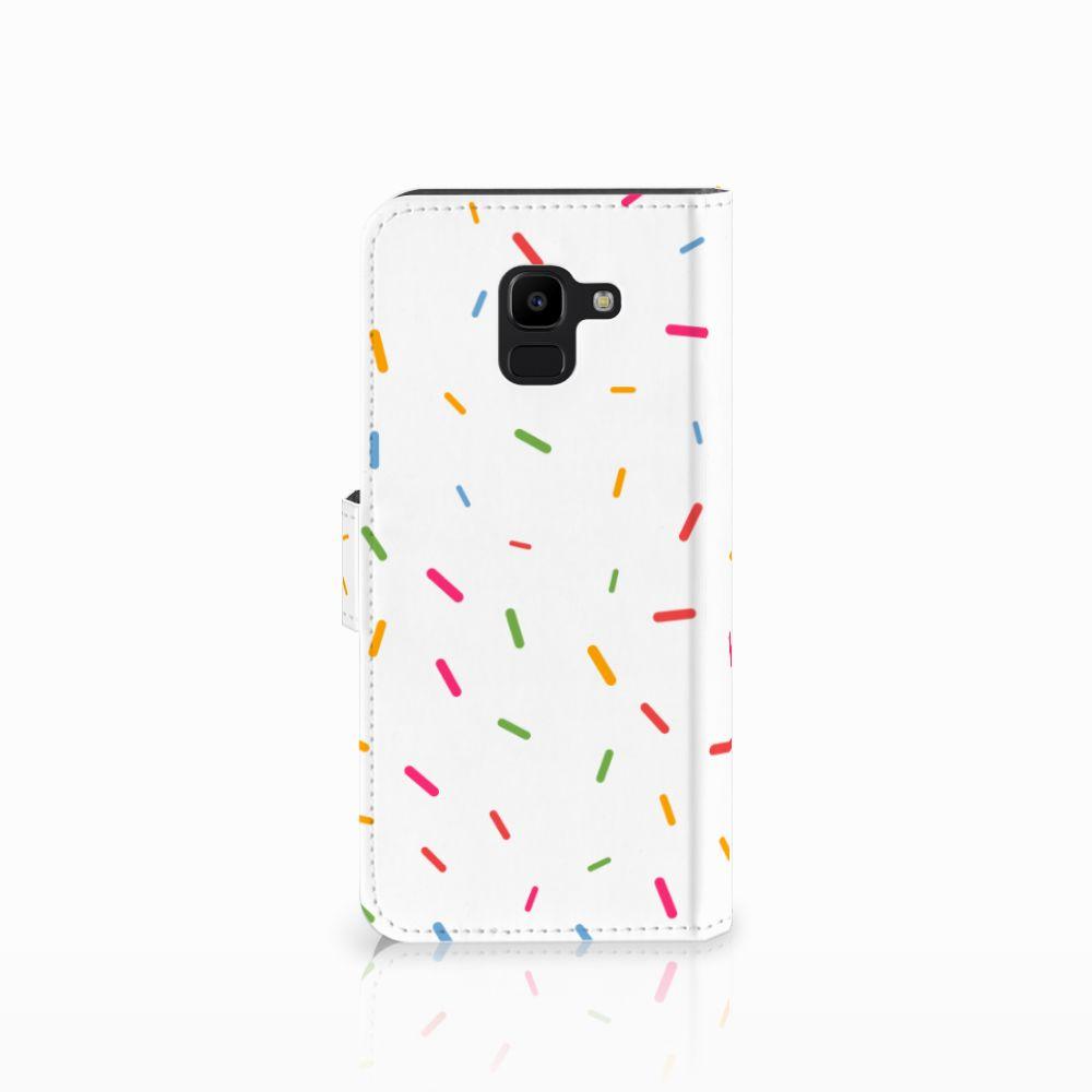 Samsung Galaxy J6 2018 Book Cover Donut Roze