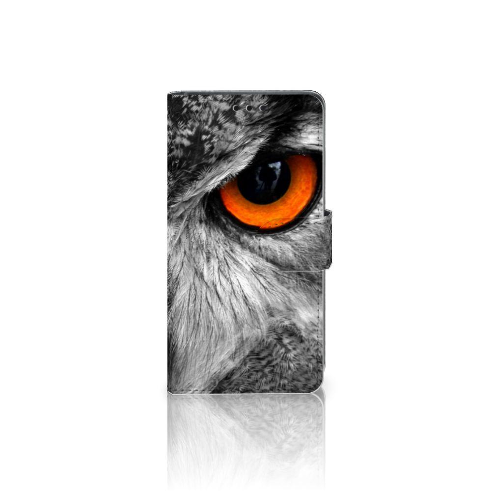 Sony Xperia Z5   Z5 Dual Telefoonhoesje met Pasjes Uil