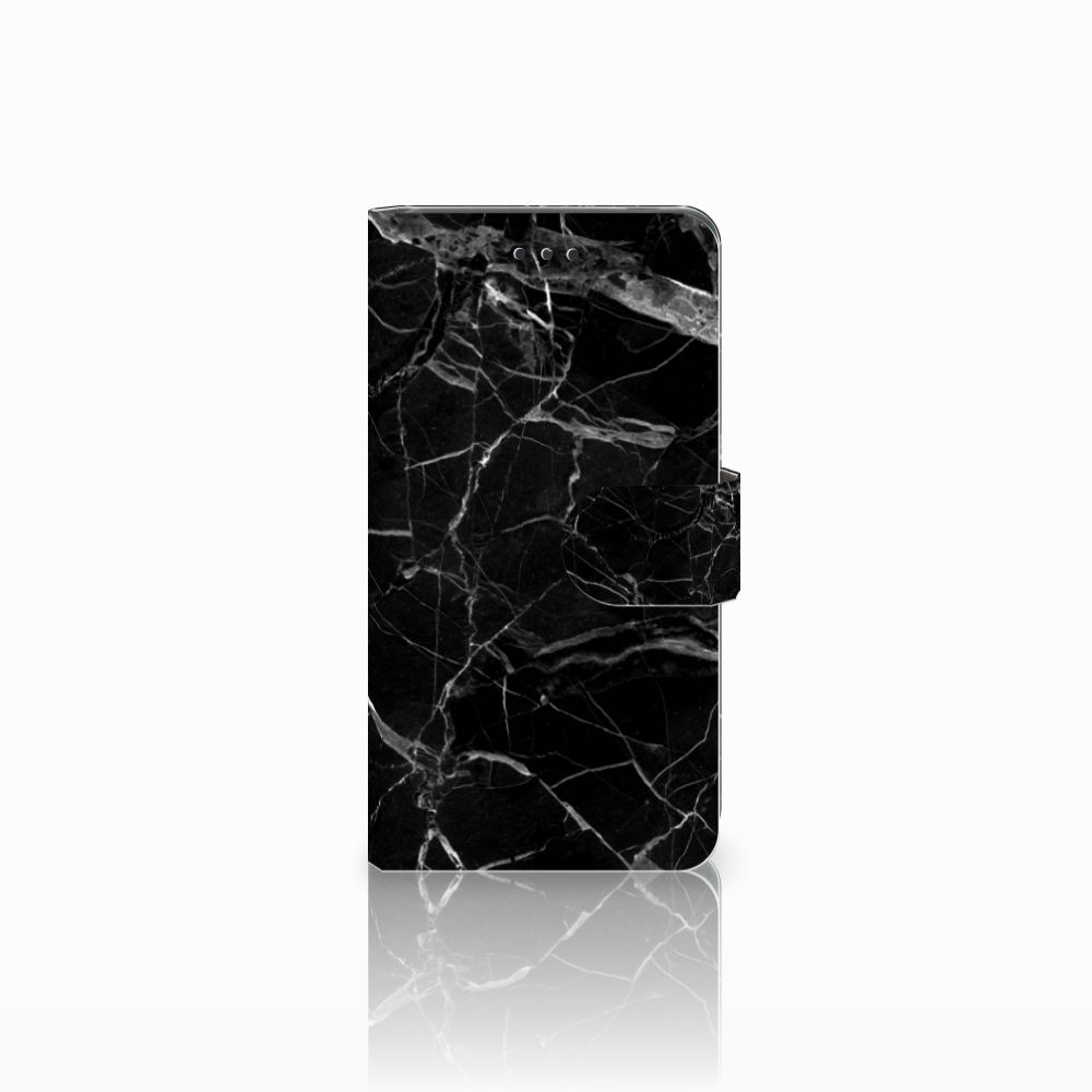 Nokia 7 Uniek Boekhoesje Marmer Zwart