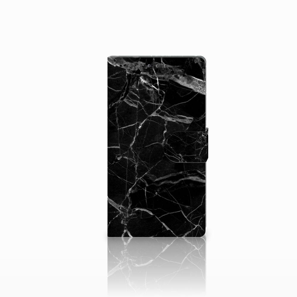 Samsung Galaxy Note 4 Boekhoesje Marmer Zwart
