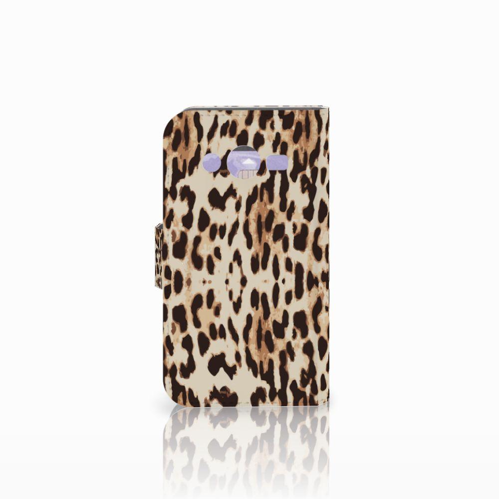 Samsung Galaxy Core 2 Telefoonhoesje met Pasjes Leopard