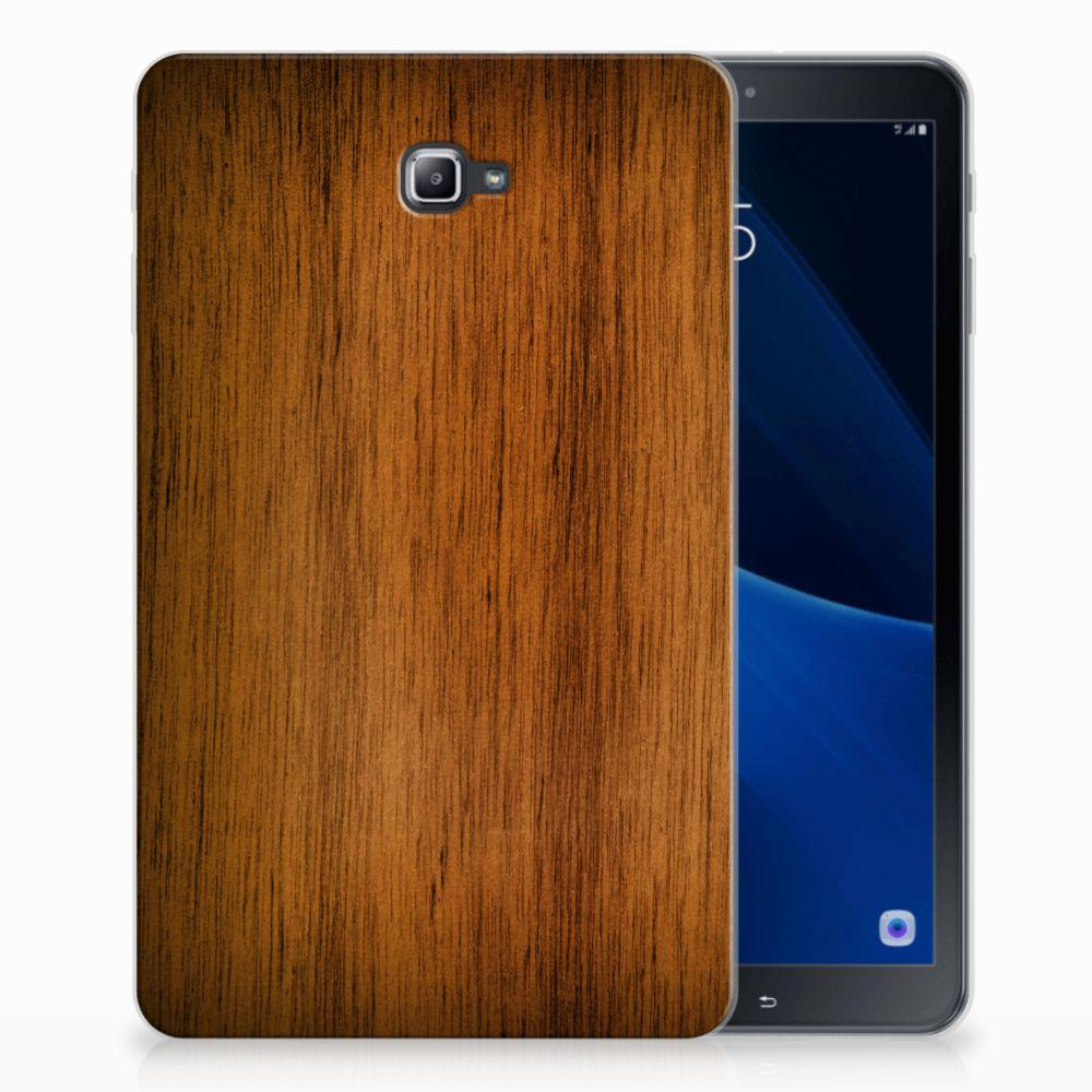 Samsung Galaxy Tab A 10.1 Uniek Tablethoesje Donker Hout