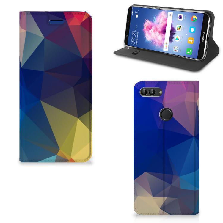 Huawei P Smart Stand Case Polygon Dark