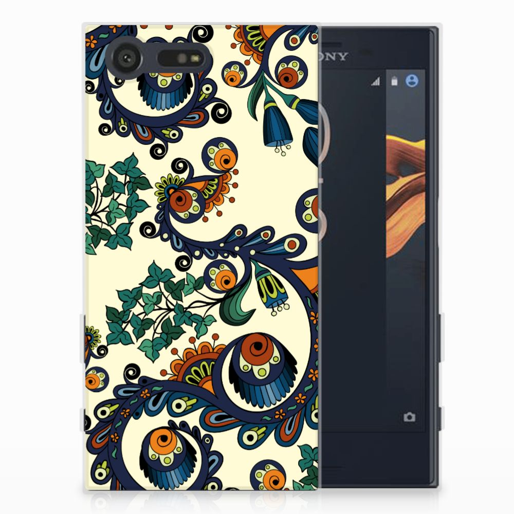 Siliconen Hoesje Sony Xperia X Compact Barok Flower