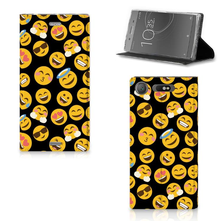 Sony Xperia XZ1 Hoesje met Magneet Emoji
