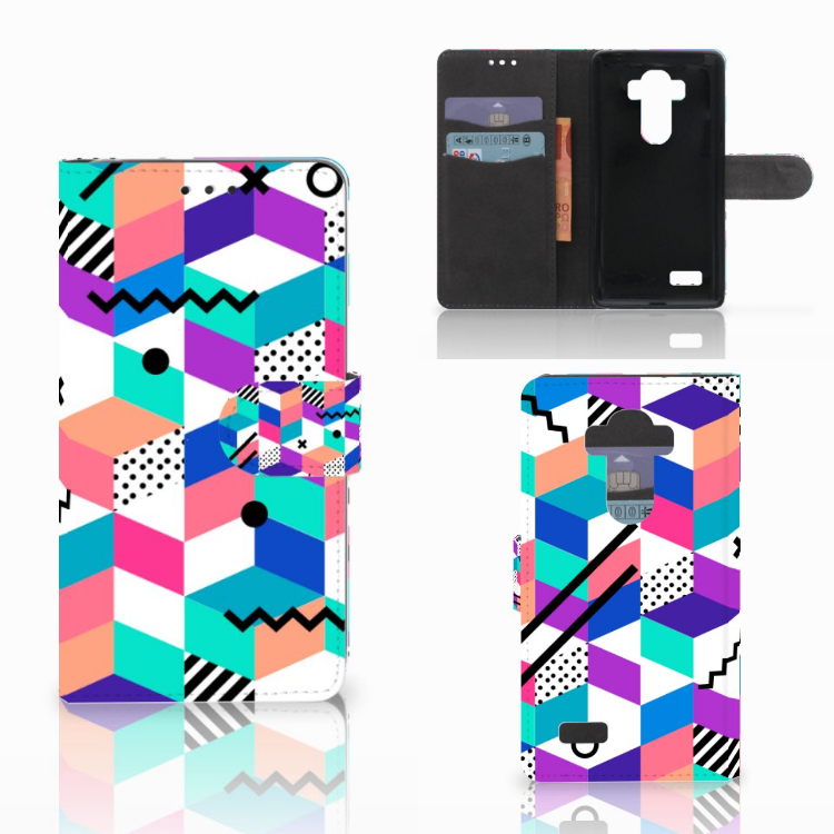 LG G4 Bookcase Blokken Kleurrijk