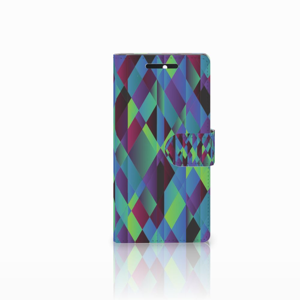 HTC Desire 628 Boekhoesje Design Abstract Green Blue