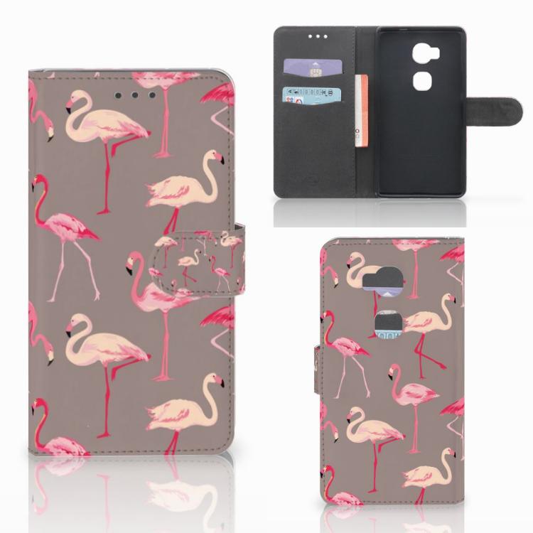 Huawei Honor 5X Telefoonhoesje met Pasjes Flamingo
