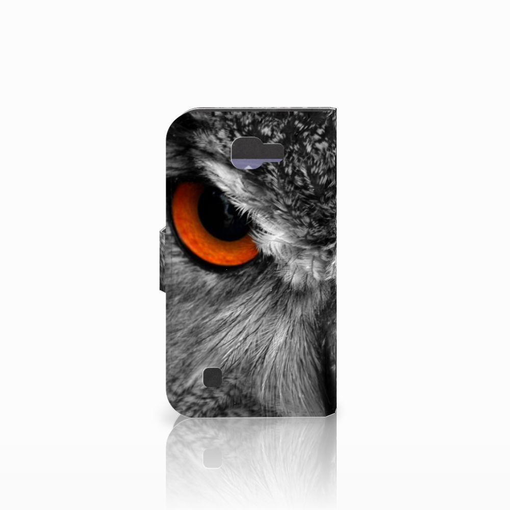LG K4 Telefoonhoesje met Pasjes Uil