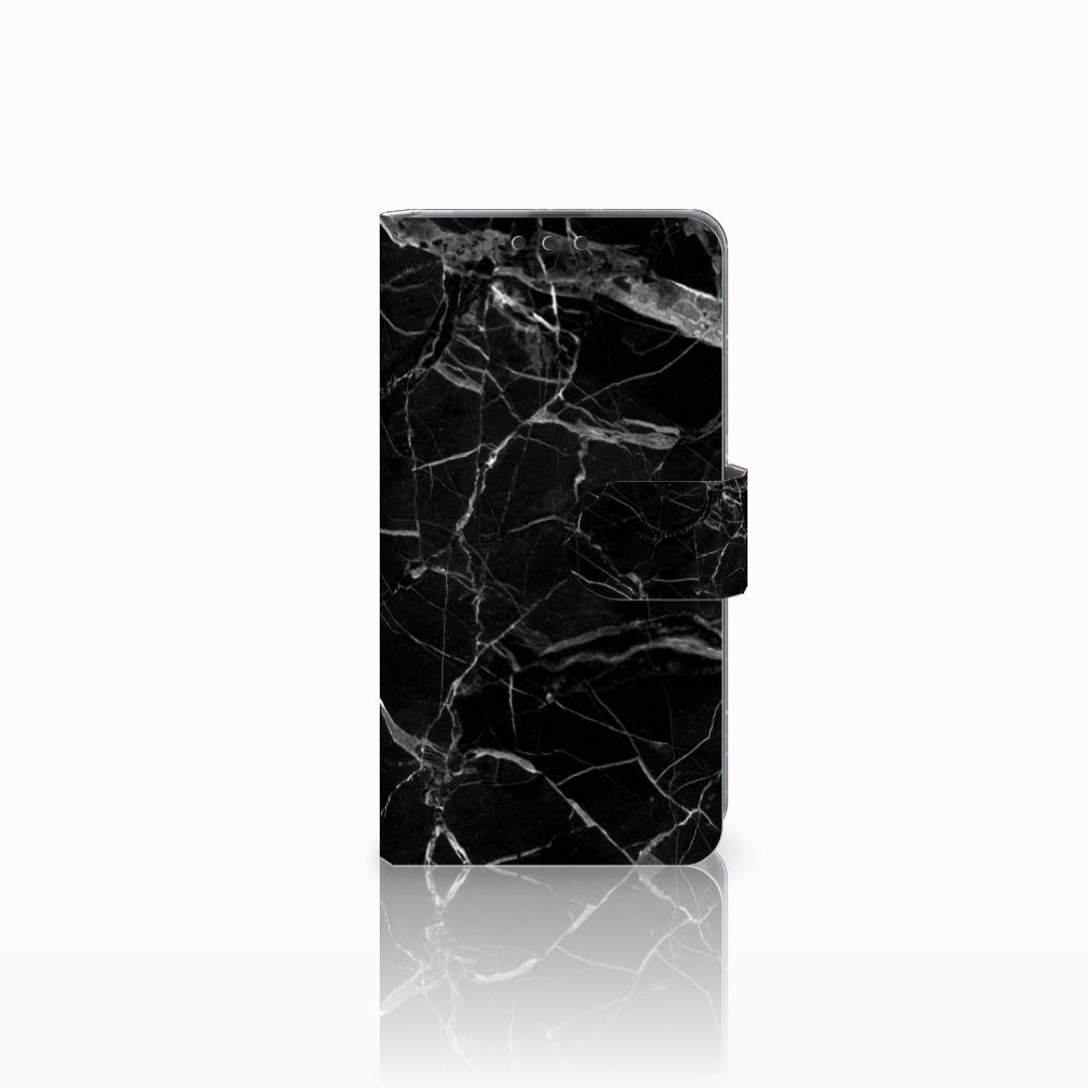 Microsoft Lumia 535 Boekhoesje Marmer Zwart