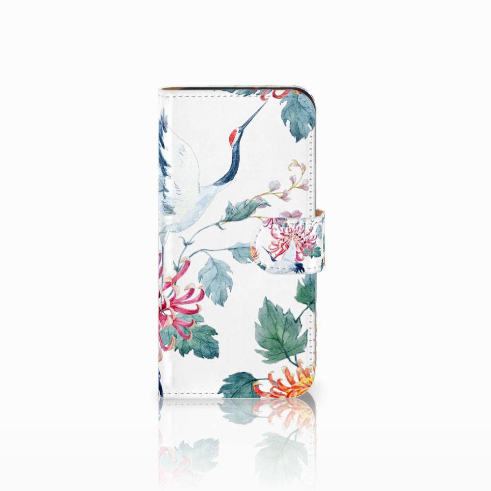 HTC One Mini 2 Uniek Boekhoesje Bird Flowers