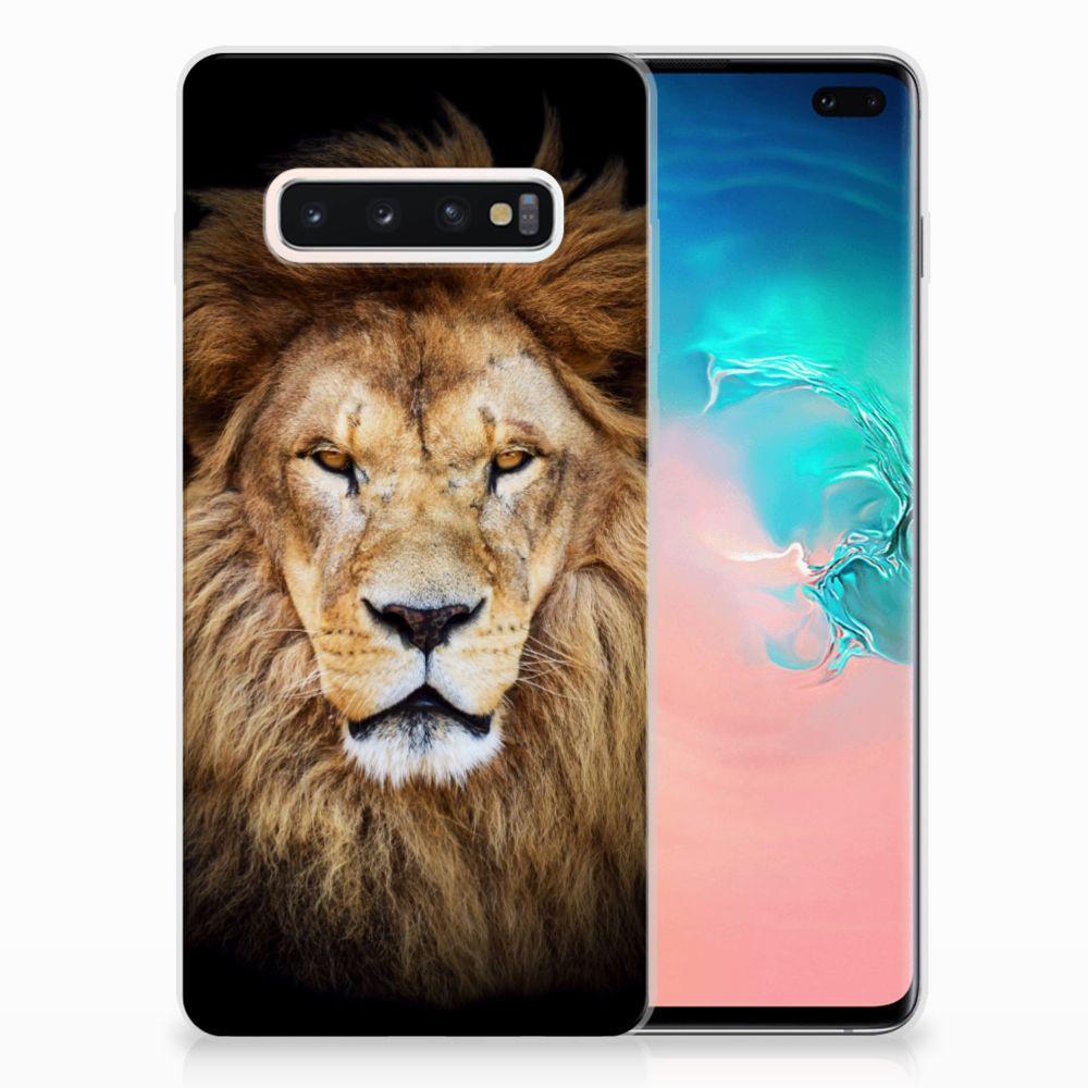 Samsung Galaxy S10 Plus TPU Hoesje Leeuw