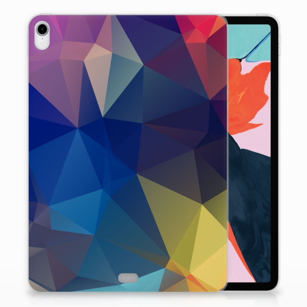 Apple iPad Pro 11 inch (2018) TPU Hoesje Polygon Dark