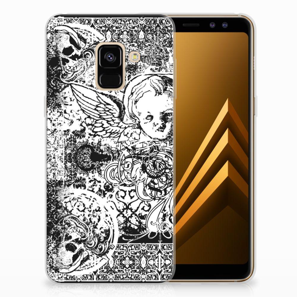 Samsung Galaxy A8 (2018) TPU Hoesje Design Skulls Angel