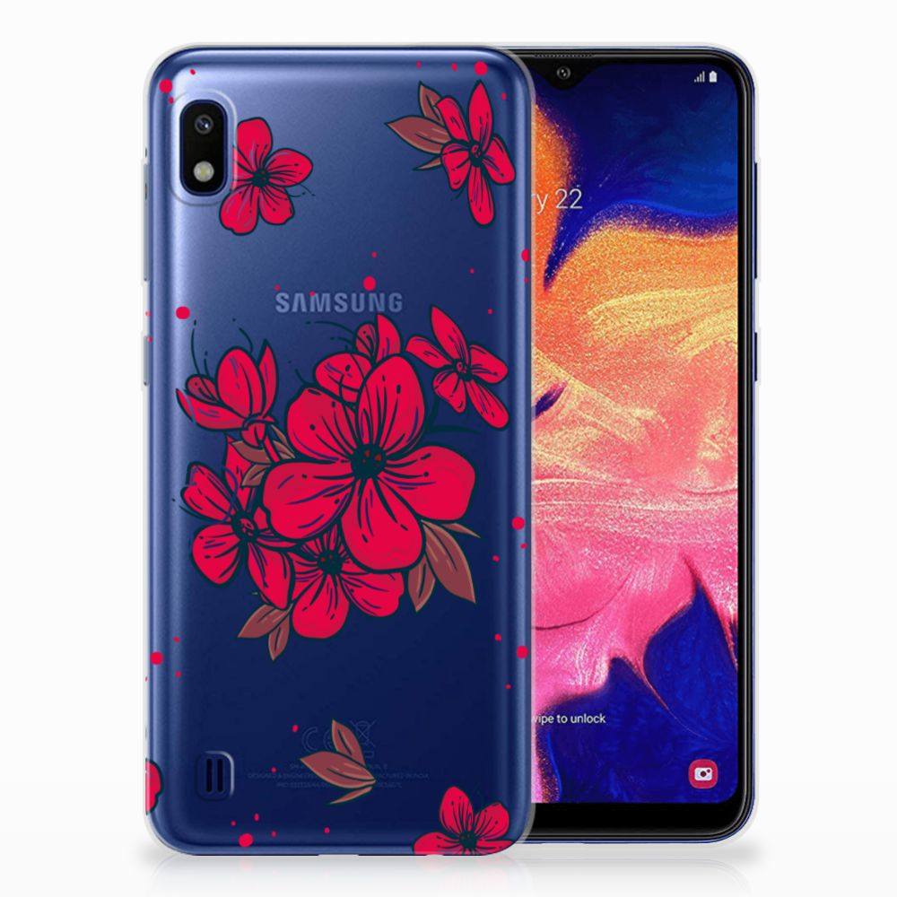 Samsung Galaxy A10 TPU Hoesje Design Blossom Red