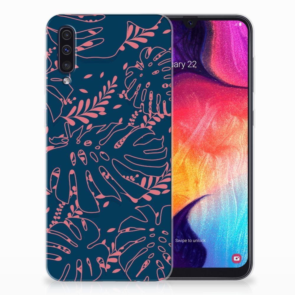 Samsung Galaxy A50 TPU Hoesje Design Palm Leaves