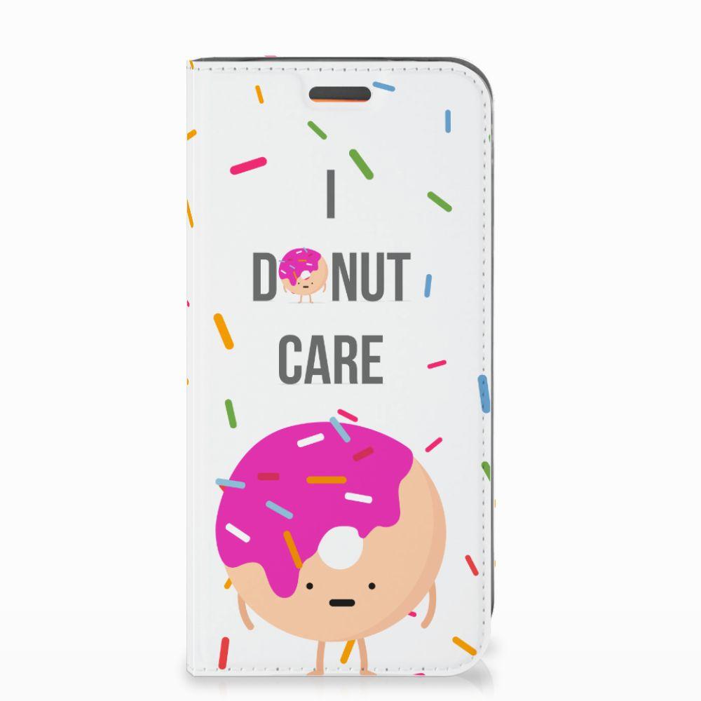 Motorola Moto E5 Play Flip Style Cover Donut Roze